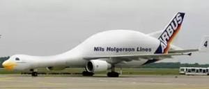 To letadlo má tvar kachny
