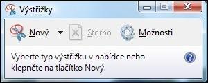 Výstřižky Windows 7