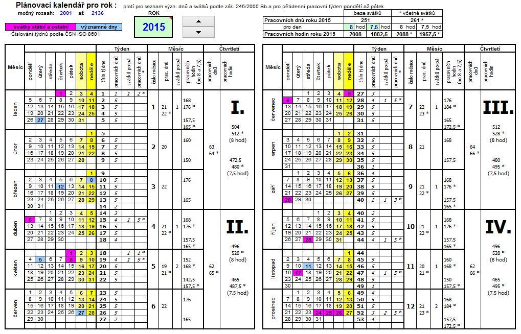 planovaci kalendar 2016 Plánovací kalendář 2015 k vytištění | Best page.cz planovaci kalendar 2016